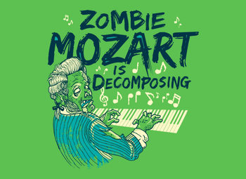 Zombie Mozart Is Decomposing T-Shirt