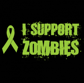 I Support Zombies Ribbon Shirt