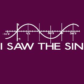 I Saw The Sin Geek Shirt