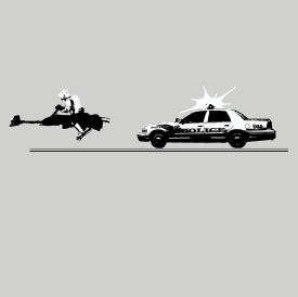 Speeder Bike Chase Funny Star Wars