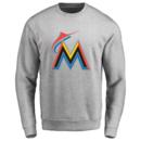 Men's Miami Marlins Design Your Own Crewneck Sweatshirt