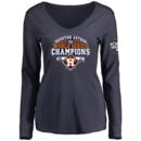 Houston Astros Women's 2017 World Series Champions Design Your Own Long Sleeve V-Neck T-Shirt