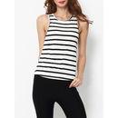 Striped Designed Round Neck Sleeveless T-shirts