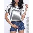 Striped Round Neck Short Sleeve T-shirts