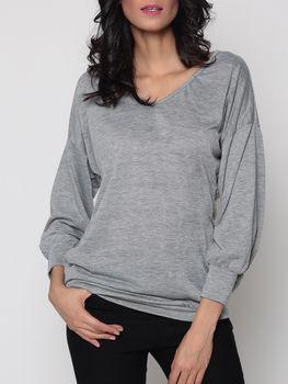 Loose Fitting V Neck Long Sleeve T-shirts
