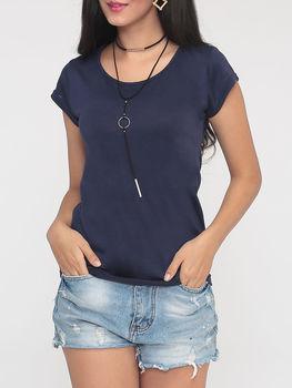 Plain Concise Round Neck Short Sleeve T-shirts