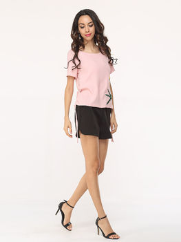 Basic Casual Embroidery Short Sleeve T-shirts
