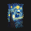 Blue Phone booth starry the night T-Shirt