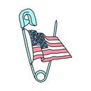 Safety pin trump hillary clinton freedom america election design T-Shirt