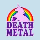 Funny Death Metal Unicorn Rainbow T-Shirt