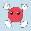 Hinata & Ushijima's Red Blob Shirt Design T-Shirt
