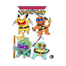 TMNP - TMNT / Ninja Turtle Pokemon Parody Shirt T-Shirt