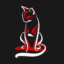 Kabuki Cat - dark T-Shirt