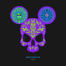 Haunted Mansion Mickey Skull by Topher Adam T-Shirt