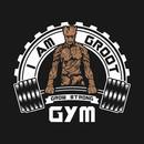 I Am Groot Guardians Galaxy Gym Mashup Parody T-Shirt