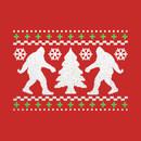 Funny Bigfoot Ugly Christmas Holiday Sweater T-Shirt