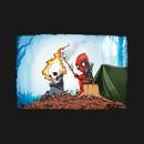GhostRider & Deadpool Go Camping T-Shirt