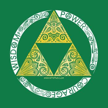Zelda - triforce circle T-Shirt