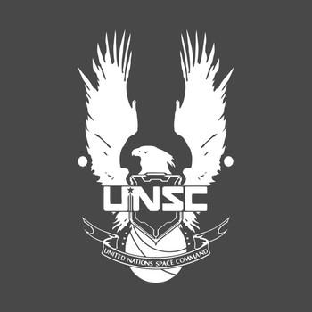 UNSC LOGO HALO 4 - CLEAN LOGO IN WHITE T-Shirt
