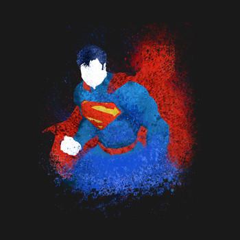 SuperMan Splash Art T-Shirt