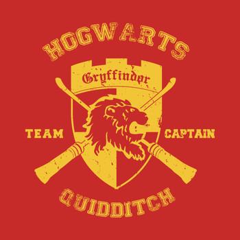 Gryffindor Crest Quidditch Team Captain Shirt T-Shirt