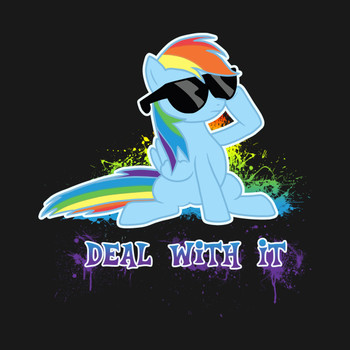 My Little Pony - Rainbow Dash - Deal With It T-Shirt