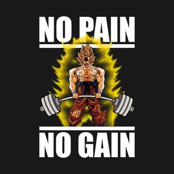 No Pain No Gain (Goku Deadlift) T-Shirt