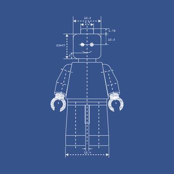 Everything is Awesome - Lego Blueprint T-Shirt