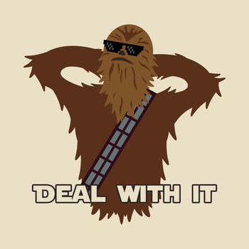 Deal With It Chewie T-Shirt