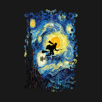 Young wizard starry the night T-Shirt
