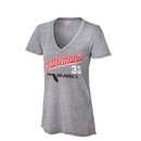WrestleMania 33 Junk Food Women's Steel Grey V-Neck T-Shirt
