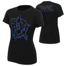 """Dean Ambrose """"This Lunatic Runs The Asylum"""" Blue Women's Authentic T-Shirt"""