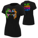 """The Usos """"Play Hard in the Paint"""" Women's Authentic T-Shirt"""