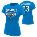 """WrestleMania 33 """"Orlando"""" Blue Women's T-Shirt"""
