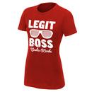 """Sasha Banks """"The Legit Boss"""" Women's Vintage T-Shirt"""