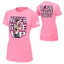 """John Cena """"Rise Above Cancer"""" Pink Women's Authentic T-Shirt"""