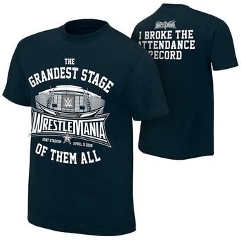 """WrestleMania 32 """"Attendance Record"""" T-Shirt"""