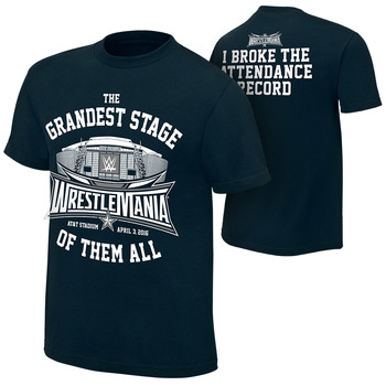 """WrestleMania 32 """"Attendance Record"""" Youth T-shirt"""