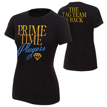 """""""Prime Time Players """"""""The Tag Team is Back"""""""" Women's Authentic T-Shirt"""""""