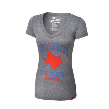 """WrestleMania 32 """"Texas"""" Women's V-Neck T-Shirt"""