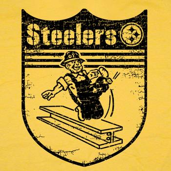 Pittsburgh Steelers Vintage T Shirt Retro Throwback Logo Tee