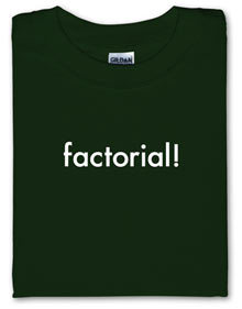 factorial! tshirt