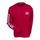 Caterpillar Shirts: Men's Red Tide 1510317 11078 Custom Banner Long Sleeve Shirt