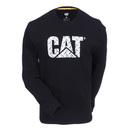 Caterpillar Shirts: Men's Black Diamond Plate 1510318 11102 Custom Logo Long Sleeve Shirt