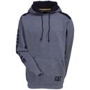 CAT Apparel Sweatshirts: Men's 1910802 004 Grey Logo Panel Hooded Sweatshirt