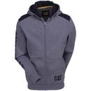Caterpillar Sweatshirts: Men's Grey 1910803 004 Logo Panel Zip Sweatshirt