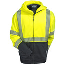 Arborwear Sweatshirts: Men's 820441 HVY Hi-Viz Yellow Tech Double Thick Class 3 Full Zip Sweatshirt