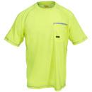 Ariat Rebar Shirts: Men's 10019142 Lime Green Sunstopper Short-Sleeve Pocket Tee Shirt