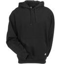 Berne Sweatshirts: Men's SP300 BK Black Thermal-Lined Hooded Pullover Sweatshirt
