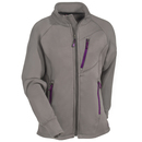 Berne Sweatshirts: Women's WSFP01 GRY Grey Performance Full-Zip Crew Sweatshirt